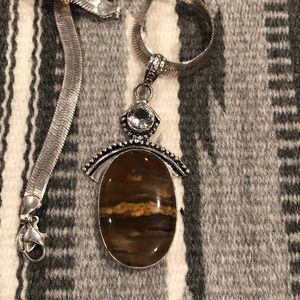 Agate Silver Pendant